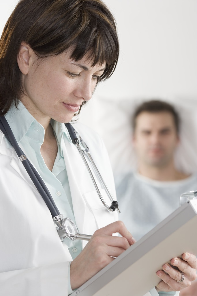 Physician Writing in electronic health record (EHR)